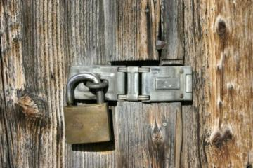 IMage of a padlocked door